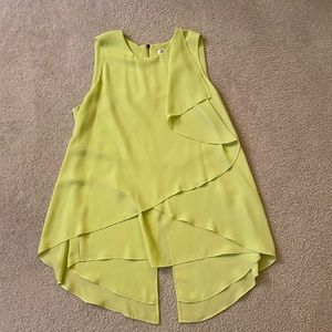 Kenneth Cole blouse in Lime Green ~ Size XS.